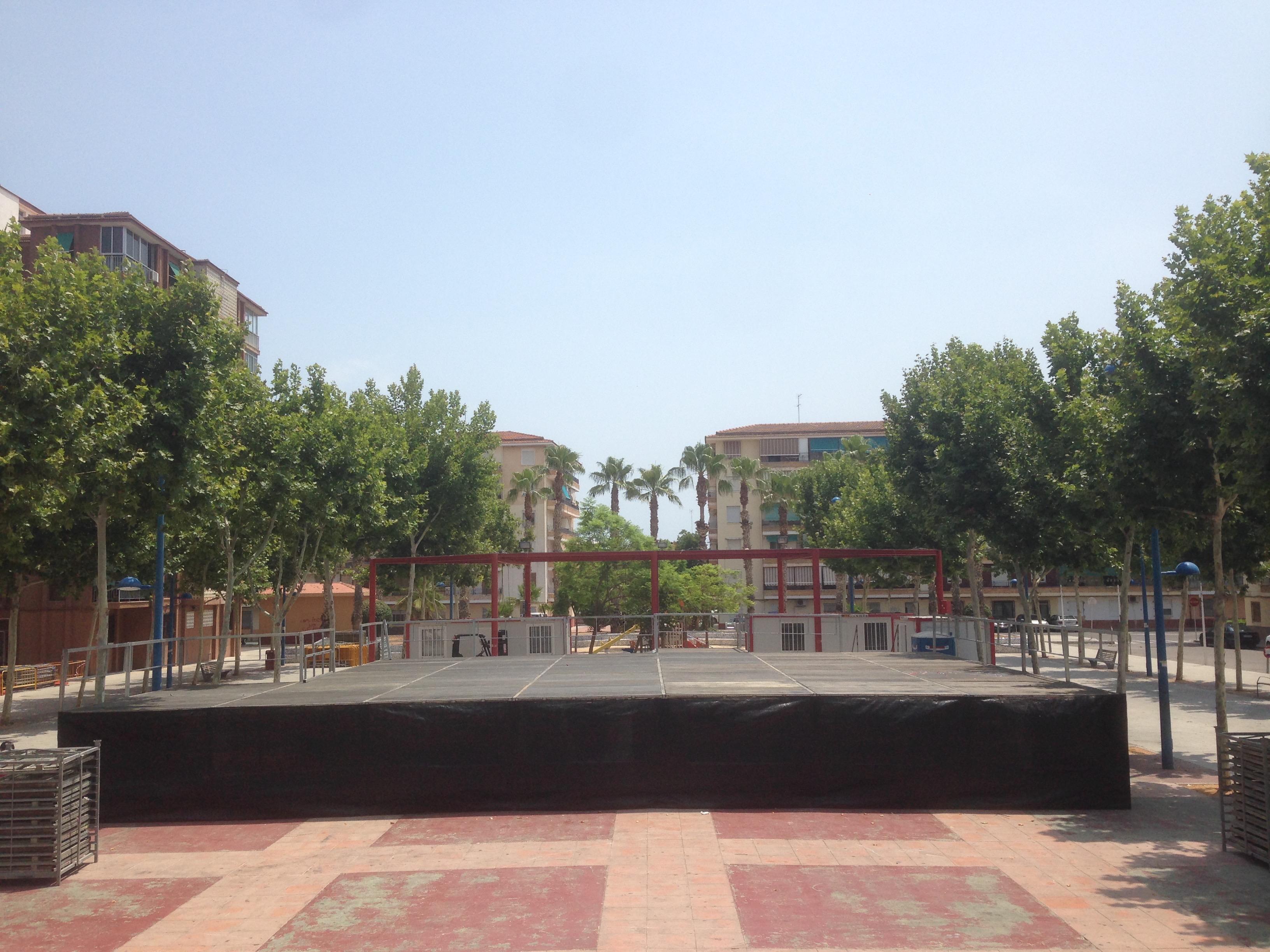 escenario concierto Fiestas Alfafar 2015