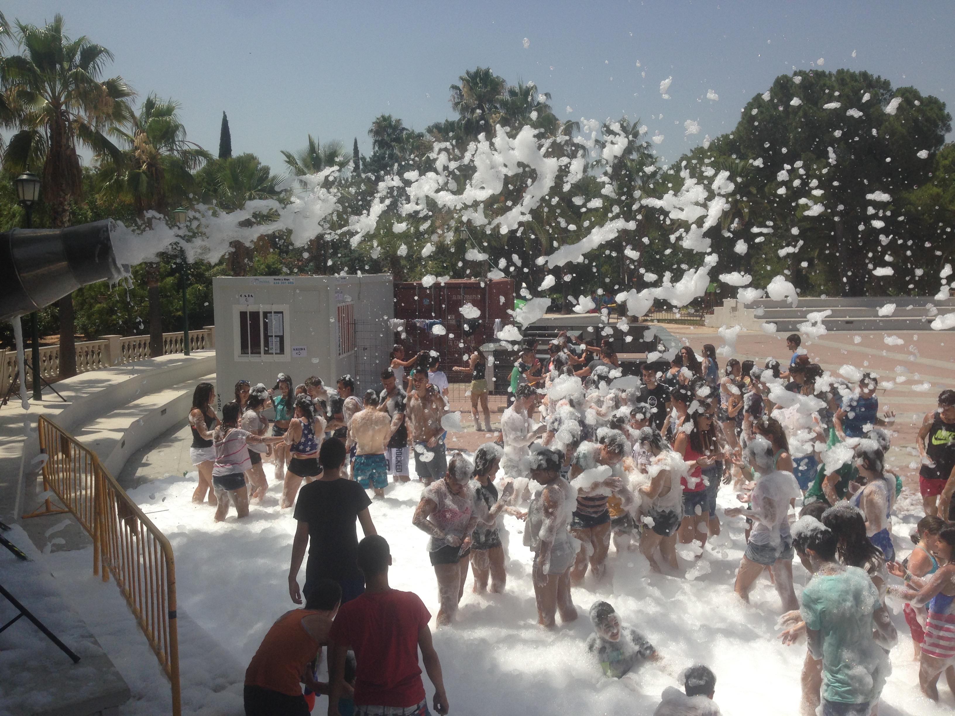 fiesta de la espuma Fiestas l'Eliana 2015